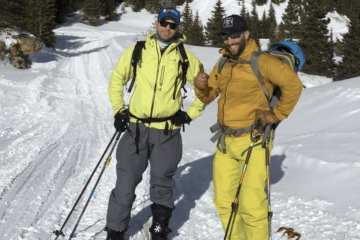 Mission Report from Jones Pass, 18Jan2015. Backcountry powder turns with the Engearment Gearheads and a guy named Blake.