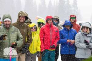 some of the backcountry attendees waiting to find out if they have a lucky ticket.