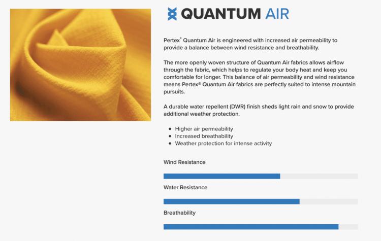 Pertex Quantum Air Fabric
