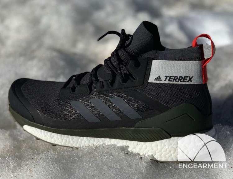 Adidas Terrex Free Hiker in snow