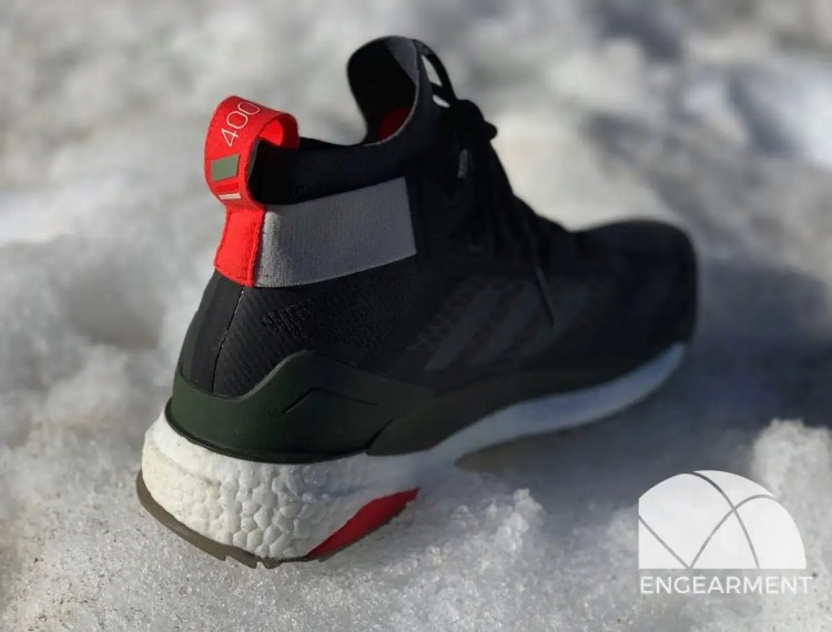 Adidas Terrex Free Hiker in snow from back