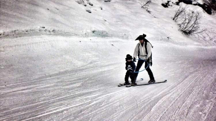 Wil and Cai Pirate skiing