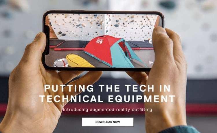 download the Mountain Hardwear AR app!
