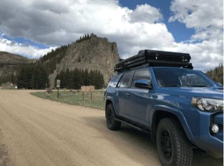Roofnest Sandpiper on roof of 4Runner TRD Pro