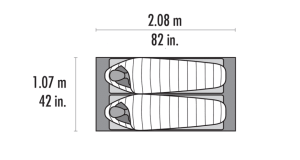 MSR Advance Pro 2 Tent dimensions