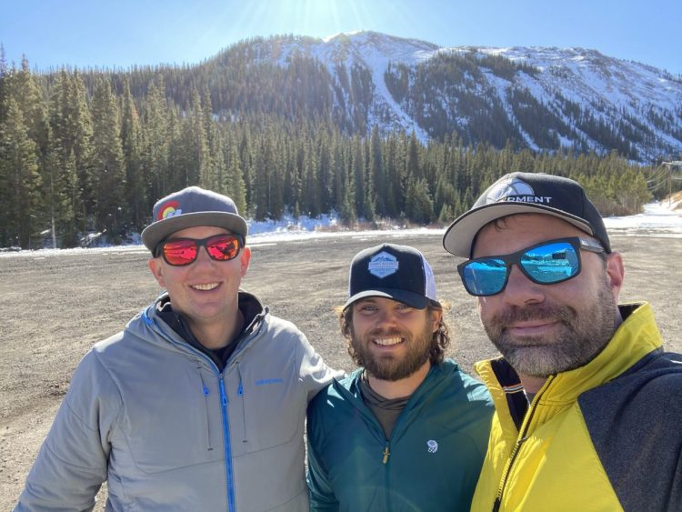 Wade Lancaster, Will Coleman and Sean Sewell of the Backcountry Beacon Bash