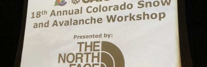 2019 Colorado Snow and Avalanche Workshop 1
