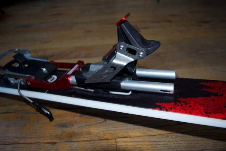 Bishop BMF/R Telemark Touring Binding review Engearment Heel lock and springs