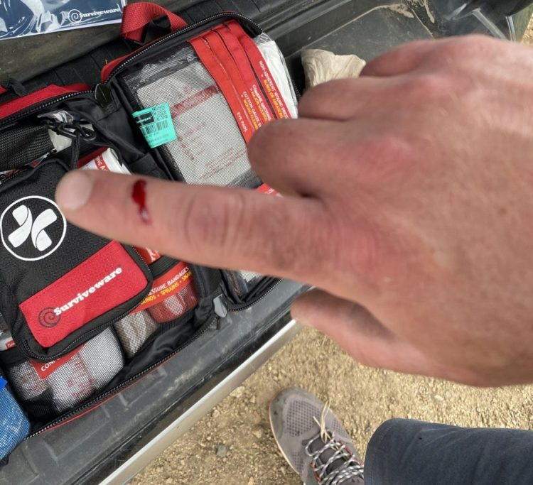 Surviveware Large First Aid Kit put to use