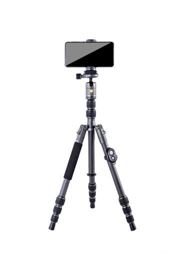 Vanguard VEO 3 Go 204CB Tripod with smartphone