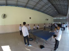 Tabletennis is one of the extracurricular activities, offered by the foundation
