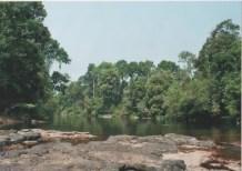 Unberührte Flußlandschaft nördlich von Vientiane