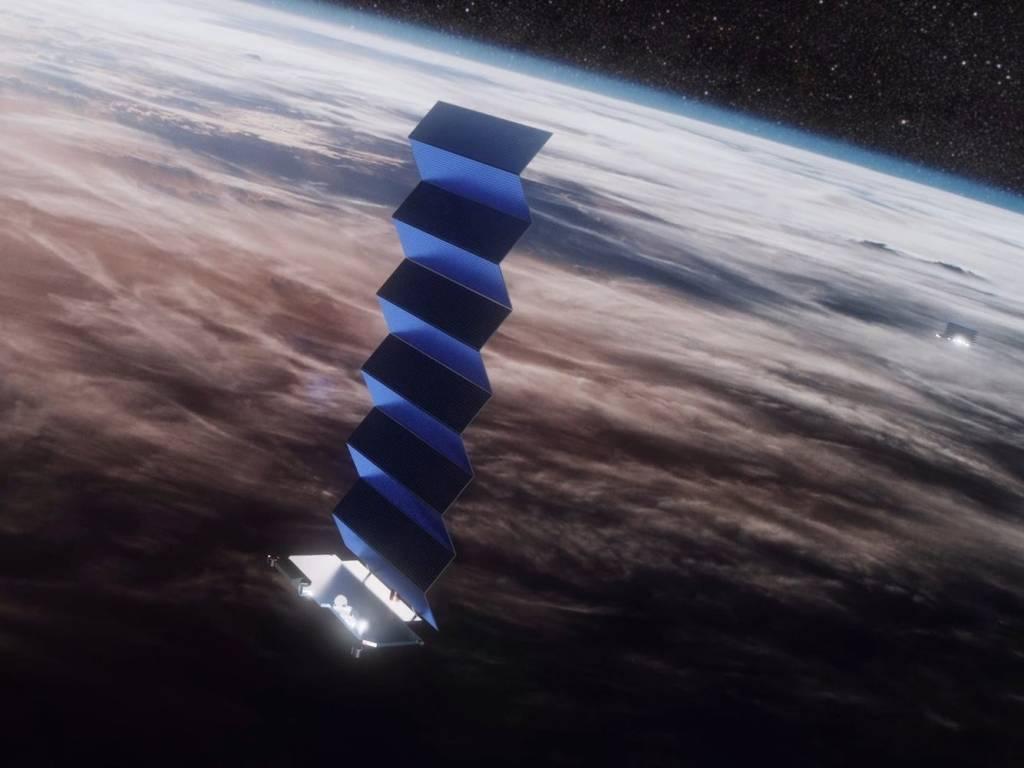Satélite Starlink em órbita