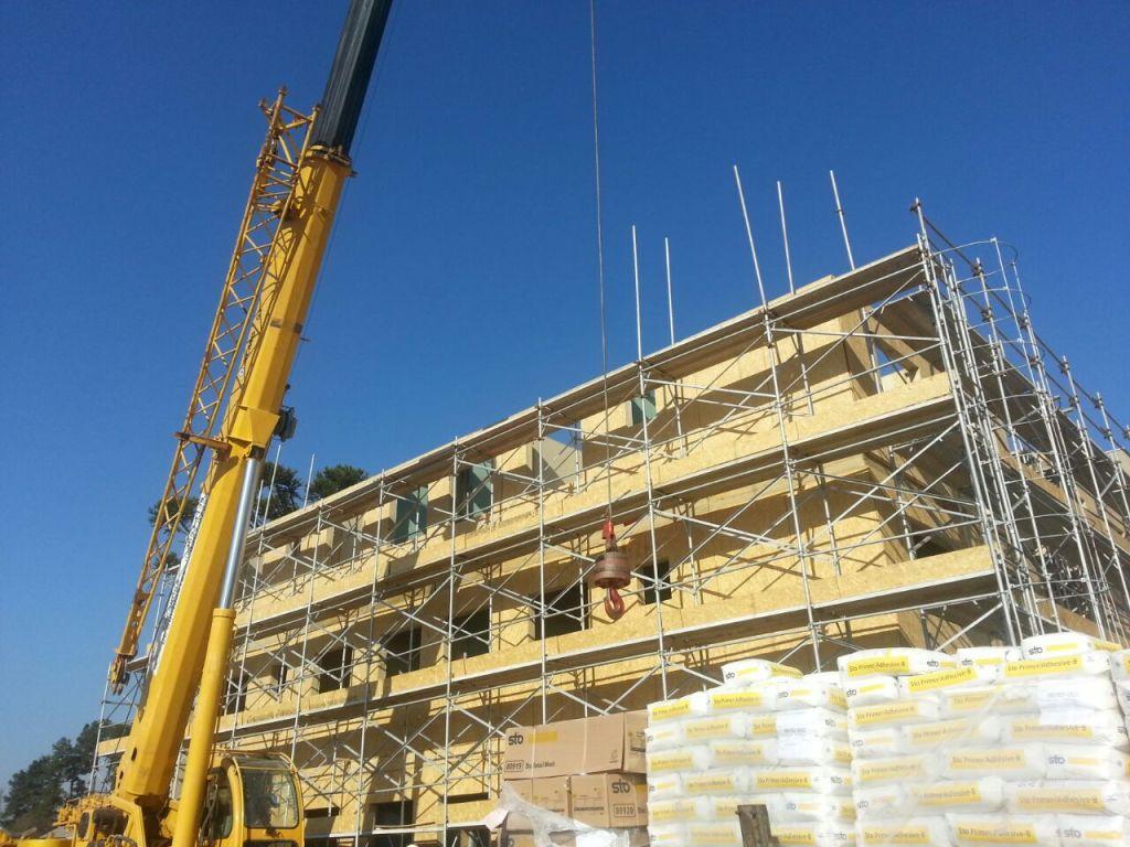 Construção de edifício de 4 pavimentos em wood frame.
