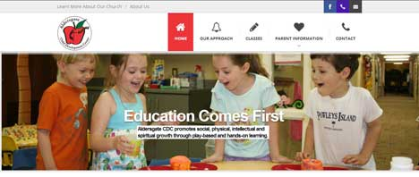 Aldersgate Child Development Center | Education Web Design Greenville SC