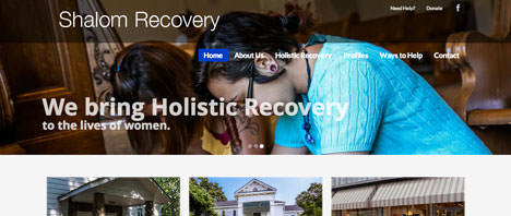 Shalom Recovery | Nonprofits Web Design Greenville SC