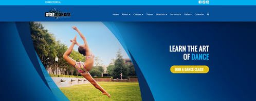 StarMakers Dance Company | Education Web Design Greenville SC