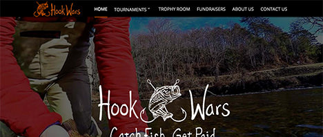 Hook Wars Fishing | Events & Entertainment Web Design Greenville SC