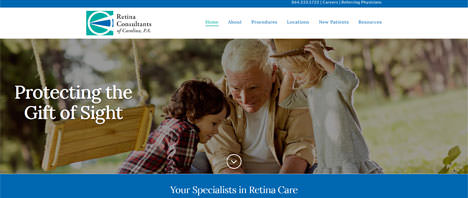 Retina Consultants | Medical Web Design Greenville SC