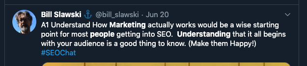 tweet about marketing