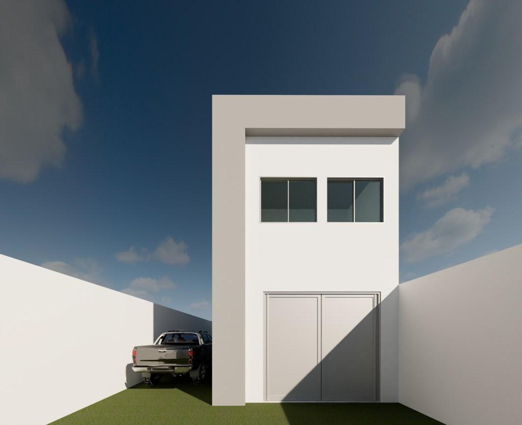 Fachada Principal 01 - Projeto de edificações - Reforma