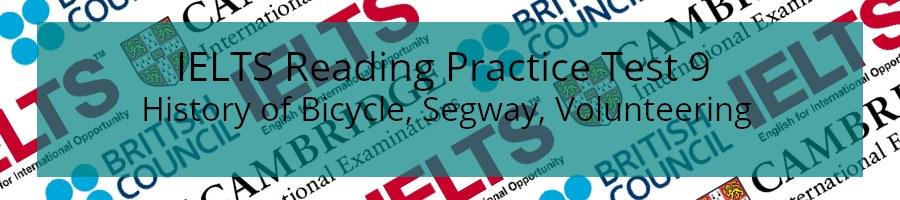 IELTS Reading Practice Test 9
