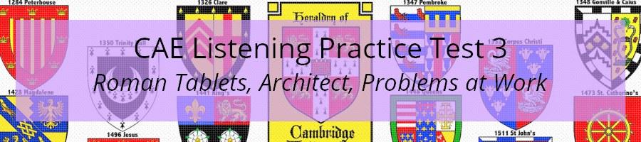 CAE Listening Practice Test 3
