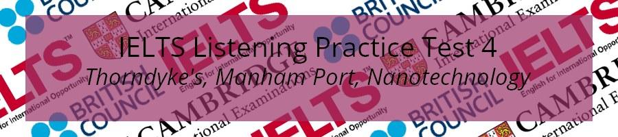IELTS Listening Practice Test 4
