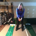 Stance check without putter establishes your initial natural putting posture.  We might adjust some glaring problems but strive to fit your putter to your natural tendencies.