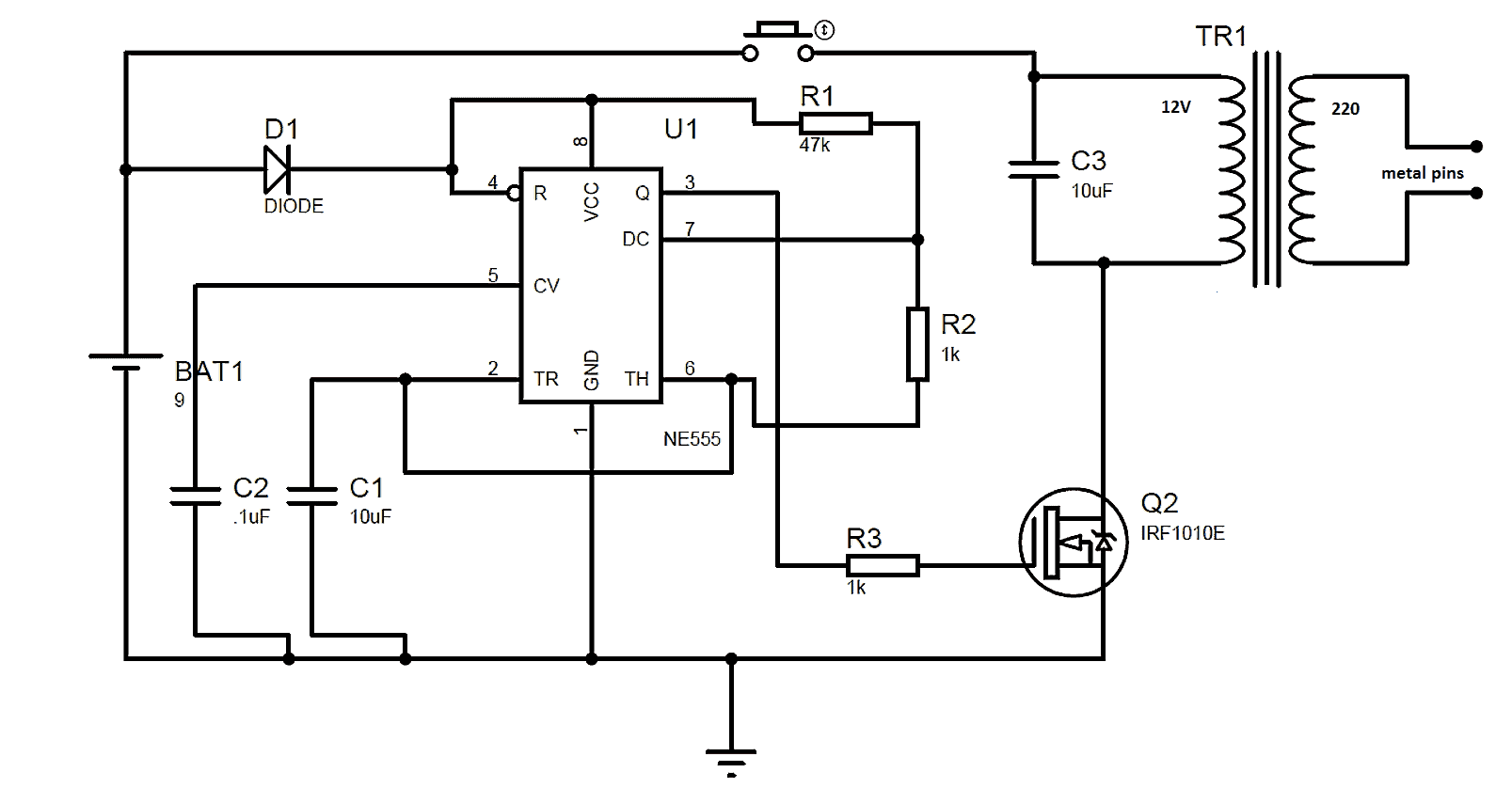 Circuit Diagram 12v One Light