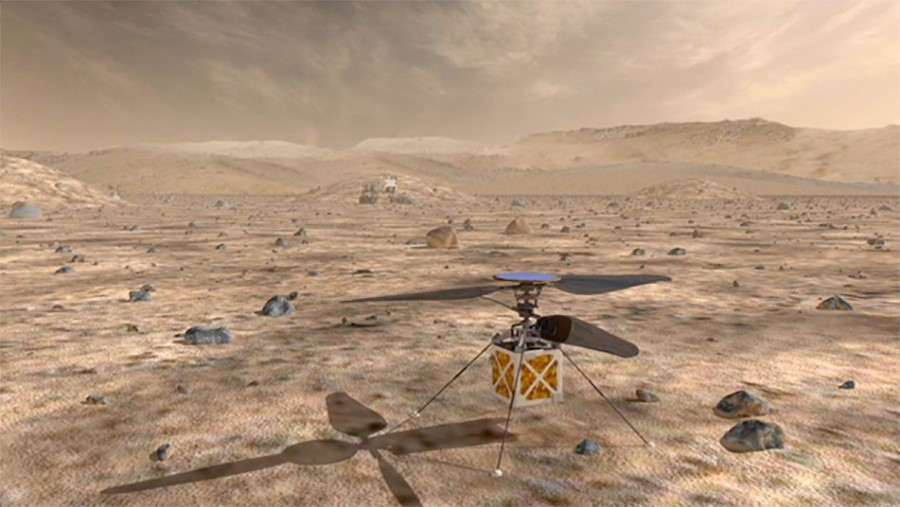 The first Mars helicopter will fly with Swiss DC motors. NASA is again working with maxon motor.