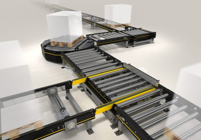 Modular solutions for automated pallet conveyance