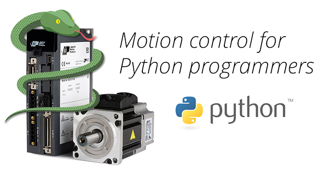 Motion control resources for Python™ programmers: AMP release application note with code for interfacing intelligent drives in Python™ automation projects