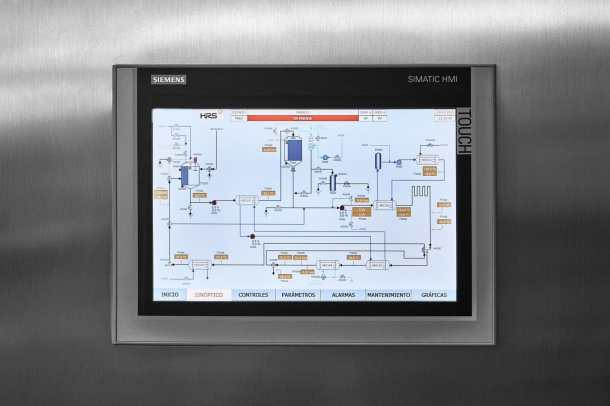 As well as remote monitoring, the HMI controls allow full control of HRS systems via a dedicated interface