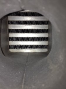 Fin density of Mishimoto race intercooler prototype