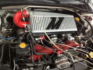 Mishimoto intercooler installed in 2006 STI