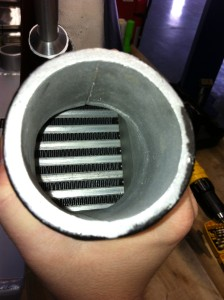 Fin density of the Mishimoto race intercooler prototype