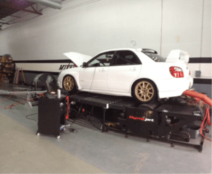 2006 STI strapped to the dyno