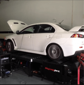 2011 Evolution GSR on dyno