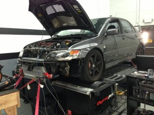 Mishimoto prototype intercooler installed on test vehicle