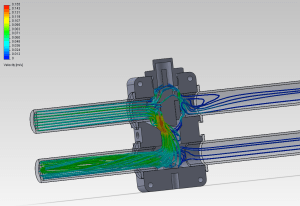 Mishimoto in-line oil thermostat CFD analysis