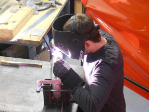 Steve handling the TIG work