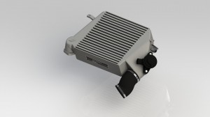 Rendering of Mishimoto prototype intercooler