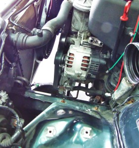 Mishimoto oil line adapter installed