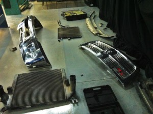 Factory 6.7L components removed