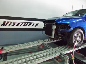 6.7L Cummins test truck on dyno