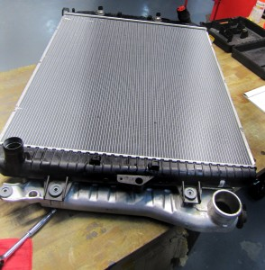 Factory radiator and intercooler assembly