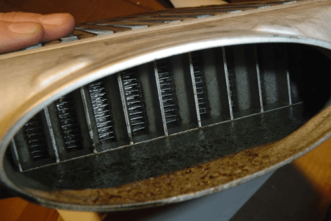 Example of oil in an intercooler core
