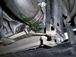 Radiator hose leak example