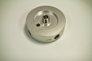 CNC-machined coolant filter housing